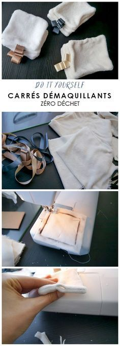 Beginner Sewing 57689 Tutorial to make your own reusable make-up removal squares DIY washable cleansing cotton and zero waste Diy Couture, Couture Sewing, Zero Waste, Sewing Hacks, Sewing Tutorials, Sewing Tips, Sewing Projects For Beginners, Diy Projects, Diy Makeup Remover