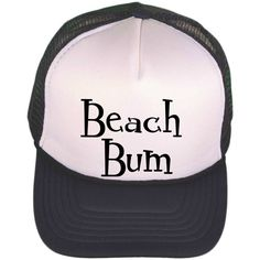 f9e34a11417 Black   White Trucker Hat - Beach Bum - Trucker Cap - Monogrammed Trucker  Hat - Personalized Baseball Cap - Personalized Ball Cap - Shower by ...