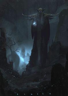 """missnoonwraith: """"Dark Elf by SaeedRamez """""""