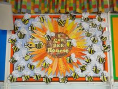 I can be honest school display board. Display Boards For School, School Displays, Reading Room, Classroom Decor, Bee, Canning, Education, Honey Bees, Bees
