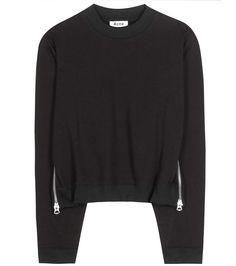 ACNE STUDIOS Bird Cotton-Blend Sweatshirt. #acnestudios #cloth #shirt