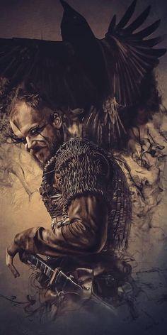 Ragnar Lothbrok, Vikings Lagertha, Floki, Viking Power, Viking Life, Viking Warrior, Roi Ragnar, King Ragnar, Norse Mythology Tattoo