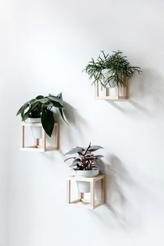 DIY hanging plant holder - Wall decor - Home inspiration and ideas #woodworkdecor