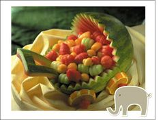 Baby Shower Centerpiece-Carved watermelon baby carriage-See more ideas