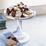 Chocolate-Dipped Almond Meringues Recipe | MyRecipes.com [Sandy 2014]
