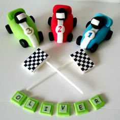RACING CAR cake toppers edible personalised birthday decoration in Crafts, Cake Decorating | eBay
