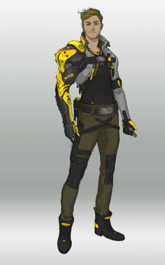 # 92 ZAP … quirk shocking he can withdraw electricity and shoot it out for o … - Character Design Club 2019 Art Cyberpunk, Cyberpunk Fashion, Character Concept, Character Art, Concept Art, Space Opera, Arte Robot, Futuristic Armour, O Pokemon