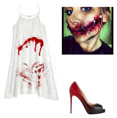 """Scary party"" by allison-jackson on Polyvore featuring CP Shades and Christian Louboutin"