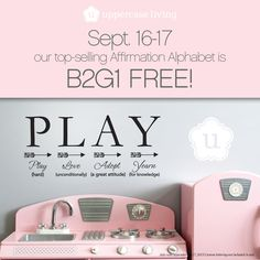 Affirmation Alphabet Buy 2 Get 1 FREE Sale Define Yourself! Our new Affirmation Alphabet is B2G1 FREE, for 2 days only! This season define yourself, and inspire family and friends, by giving gifts that are memorable! Sale runs September 16-17, 2015. kimberly.uppercaseliving.net