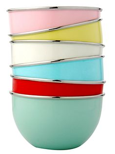 #kitchen, #bake, baking, tools, kitchen tools, kitchen accessories, bowl, #bowls, mixing bowls, pink, blue, red, yellow, stainless steel,