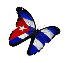Cuban Flag in the form of a butterfly I'd prefer black&white Foot Tattoos, Body Art Tattoos, I Tattoo, Tatoos, Tattoo Shop, Matanzas Cuba, Cuban Women, Cuba Flag, Cuban Culture