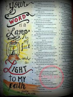 Artsy Faith, bible art journaling, bible art, bible journaling, psalm 119:105