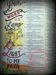 Artsy Faith, bible art journaling, bible art, bible journaling, psalm 119:105