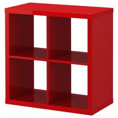 $49  KALLAX Shelving unit - high gloss red - IKEA  For Emmett's Room