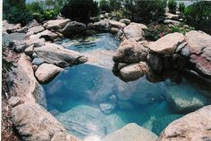 Custom Spas - traditional - pool - other metro - Common Ground Landscapes Natural Swimming Ponds, Natural Pond, Swimming Pools Backyard, Backyard Pool Designs, Small Backyard Pools, Small Pools, Outdoor Bathtub, Mini Pool, Garden Tub