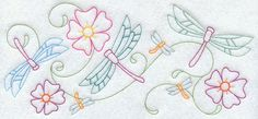 Embroidery Library! - Free Machine Embroidery Designs..Fluttering Dragonfly Border..have