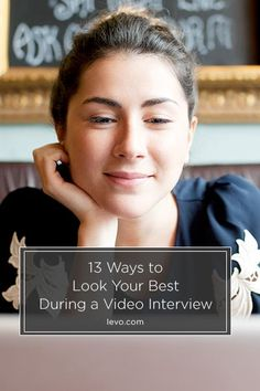 Video Interview tips on how to look your best. www.levo.com #JobSearch