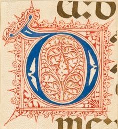 Initials from Choirbooks from Spain, 15th/16th Century. #manuscript #history…