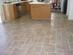 Kitchen Floor Tile Patterns Finished Kitchen Floor 01. Flooring: 13x13 & 6.5x6.5 Canyon Slate