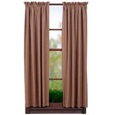 """Patriotic Patch Lined Short Panel Curtains 63"""""""