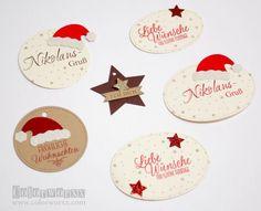 weihnachtliche Anhänger schnell gemacht mit Stampin Up
