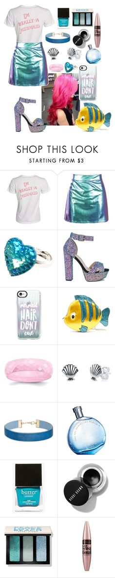 """""""i'm really a mermaid"""" by annakuzmi ❤ liked on Polyvore featuring Casetify, Danielle Nicole, Disney, Miss Selfridge, Hermès, Butter London, Bobbi Brown Cosmetics and Maybelline"""