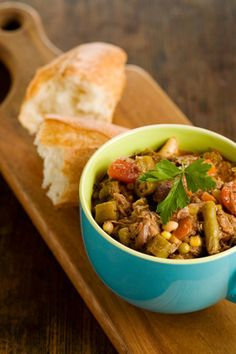 Lighter Beef and Barley Vegetable Soup