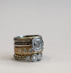 stacking diamond rings by J ALBRECHT DESIGNS