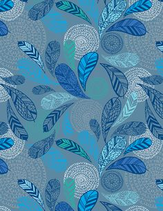Feather Pattern by Claire Edwards, via Behance Mosaic Patterns, Color Patterns, Print Patterns, Textile Pattern Design, Textile Patterns, Pattern Designs, Cute Pattern, Pattern Art, Feather Pattern