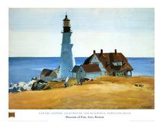Lighthouse, Porthead, by Edward Hopper.