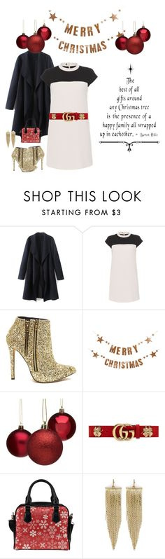 """""""O, Christmas 🎄"""" by kiara-tuggle ❤ liked on Polyvore featuring Paule Ka, Bloomingville, Gucci and Kenneth Jay Lane"""