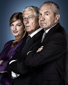 Karren Brady, Nick Hewer and Alan Sugar discuss The Apprentice. Nick Holzherr of www.whisk.co.uk also securing funding for App and online shopping website http://www.bbc.co.uk/newsbeat/18867161#
