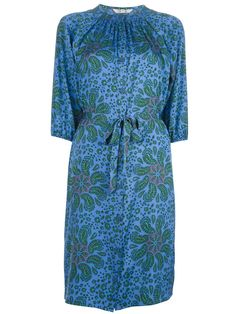Silk dress. Love this print!