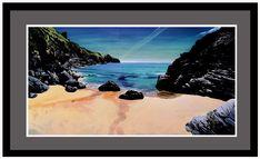 A secret beach on The Lizard, Acrylic on panel.