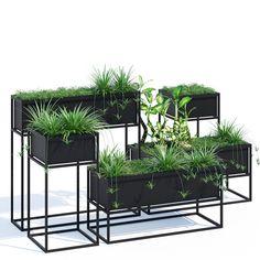 kronos planters 3d model max obj fbx mat 1