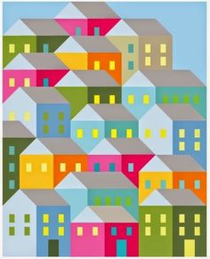 Pretty Little Quilts: Hillside Houses Quilt-A-Long