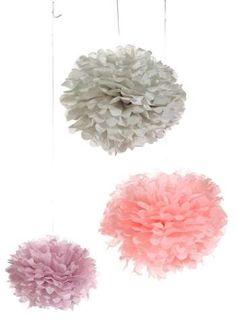 Papierblumen max. 38 cm rosa/grau/lila