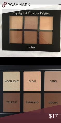 New! Contour Palette New: sealed. Colors are beautiful. Shades Moonlight and Glow have shimmer. Makeup