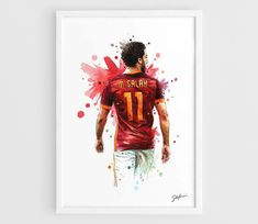 Mohamed Salah AS Roma A3 Wall Art Print Poster of the by NazarArt