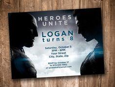 Batman vs Superman Personalized Birthday Invitation by appacadappa