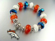 Denver Broncos Women S Static Rain Sports Bra Orange And