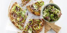 Boodschappen - Snelle flammkuchen met gehakt en salade