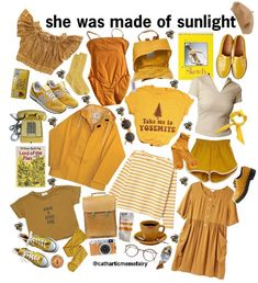 The official end of summer color 😭😭😭 90s Fashion, Fashion Outfits, Womens Fashion, Style Année 90, Outfit Online, Style Hipster, Looks Vintage, Mellow Yellow, Mode Inspiration