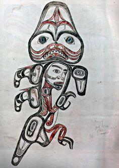 Photo: Isabella Edenshaw's Haida Dogfish Tattoo Design