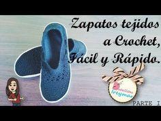 Zapatos Tejidos a Crochet, Fácil y Rápido PARTE I - YouTube