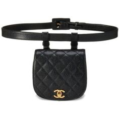 Black Quilted Caviar Belt Bag 34 ❤ liked on Polyvore featuring bags e1db09b447