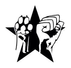 raised paw (fist) tattoo idea