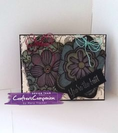 Gift Card created using COLORISTA DARKS COLOURING PAD & SN METALLIC PENCILS Created by Mary Trainer @crafterscompanion