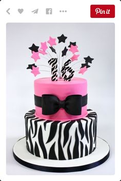 Pink/ zebra birthday