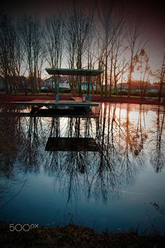 Reflection in the evening light - null